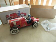 Tinplate Clockwork Toy Racing Car MS447 with key. Mint and Boxed