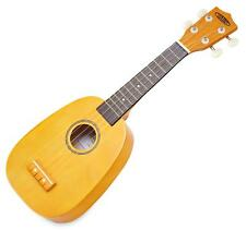Ukulele Soprano Guitare Hawaii Uke Hula Ukulélé Forme Ananas Corde Nylon Jaune