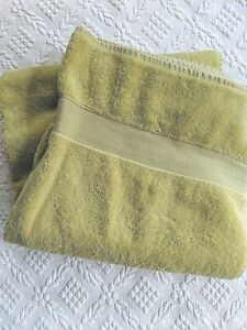 Pottery Barn Classic Terry Bath Towel Green Made in Turkey