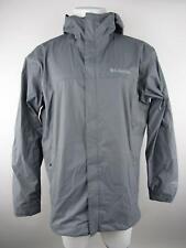 Columbia Men L Gray Waterproof Breathable Full Zip Hooded Mesh Lined Ski Jacket