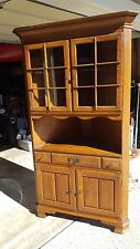 Temple Stuart Solid Maple Corner Fitting Glass Display Cabinet