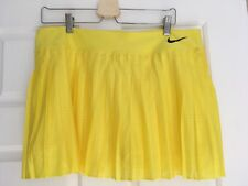 WOMENS, NIKE DRI-FIT PLEATED SKIRT WITH SKORTS SIZE XL, BRIGHT YELLOW, #795