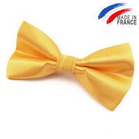 Made in France NOEUD PAPILLON satin Jaune pour homme Femme - Men Yellow Bowtie