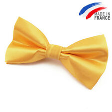 Made in France NOEUD PAPILLON satin Jaune pour homme Femme - Men Yellow Bowtie