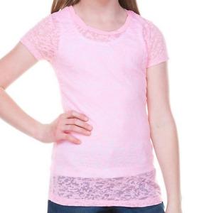 Burnout Short Sleeve T Shirt Girls Teens Longer Length Sizes 7 to 16 Years