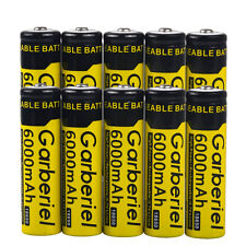 10pcs 6000mAh 18650 Rechargeable Battery 3.7v Li-ion Batteries Cell Garberiel