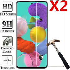 For Samsung Galaxy A10 A20E A51 A70 A80 A91 Tempered Glass Screen Protector 2Pcs