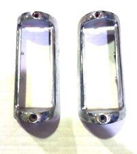 shine on ++ OEM nos 1951-2  DeSoto Parking Lamp Bezels - L & R ++