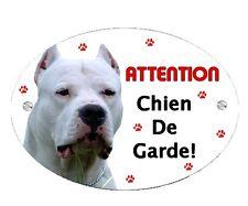 Plaque Attention au chien Dogue argentin personnalisée avec votre texte