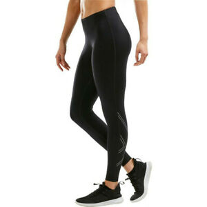 2XU Womens Aspire Compression Tights Bottoms Pants Trousers Black Sports Running