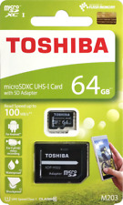 TOSHIBA M203 64GB Micro SD Memory Card UHS-I CLASS 10 SDXC with Adapter 100MB/s