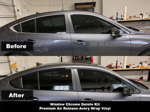 Crux Moto Window Chrome Delete Air Release Gloss Black fits Subaru Legacy 2020+