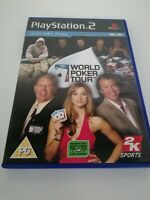 Playstation 2 ps2 games WORLD POKER TOUR Complete Manual Net Pro Players FREE PP