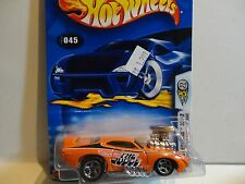 2003 Hot Wheels #45 Orange 1969 Pontiac GTO Judge w/5 Spoke Wheels