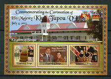 Tonga 2015 MNH Coronation King Tupou VI & Queen Nanasipau'u 3v M/S