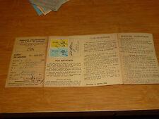 Permis de pêche Carte avec timbre 1981 2