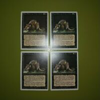 Plague Rats x4 Revised Edition 4x Magic the Gathering MTG