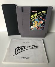 NINTENDO NES SKATE OR DIE WITH COVER AND BOOKLET, PAL B PALCOM