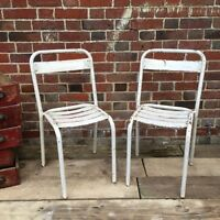 Industrial Vintage French Cafe Restaurant Bistro Tolix Garden Chairs
