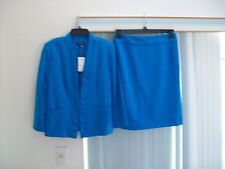 Woman's Blue Skirt Suit from Premise Skirt Size 4 Jacket Size S NWT