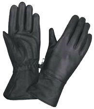 Womens Motorcycle Biker Leather Lined Gel Palm Gauntlet Riding Gloves XL