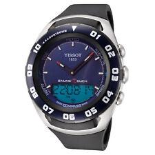 Tissot Men'S T0564202704100 парусный спорт Touch 45 мм, синий циферблат резиновые часы