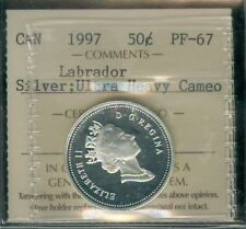 1997 CANADA SILVER 50 CENTS LABRADOR ICCS FINEST PROOF ULTRA HEAVY CAM
