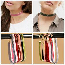10pcs Punk Gothic Black Lace Velvet Choker Necklace Chain Collar Vintage Jewelry