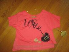 Juniors Ladies Princess Vera Wang Coral Pink Love Perfume Bottle Shirt Sz M
