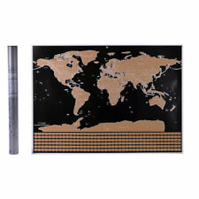 59*83CM Scratch Off World Map Deluxe Edition Travel Log Journal Poster UK STOCK