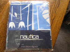 Nautica Home Collection VINYL Shower Curtain STENCIL BOXES Tulips & Leaves~~NIP!