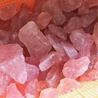 Natural Pink Fluorite Quartz Crystal Stones Rough Polished Gravel Specimen ST