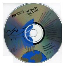HP DeskJet 720C Software Driver Install PC CD-ROM v10.1 Windows 3.1 95 NT 4.0