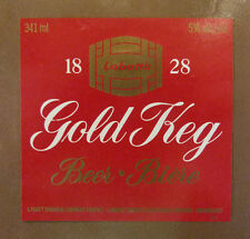 VINTAGE CANADIAN BEER LABEL - LABATTS BREWERY, GOLD KEG BEER 341ML #2