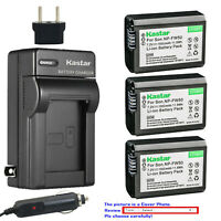 Kastar Battery Travel Charger for Sony NP-FW50 TRW & ILCE-7M2 Alpha 7 II a7 II