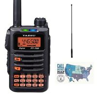 Yaesu FT-70DR C4FM/FM Dual Band 5W HT Radio w/ Diamond SRH77CA HT Antenna