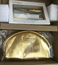 LA-Tweez With Light, In Holder, With Pouch. White/Gold. Boxed.