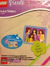 Lego Friends Pocket Folders 2 Pack Sticker Sheets Back To School Supplies BFF