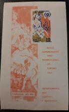 Block Sheet Souvenir Brazil International Year of Tourism Rio Carnival 1967 MNH