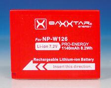 Baxxtar np-w126 Li-ion 7.2v acu batería battery for para Fuji X-pro 2 - (200664)