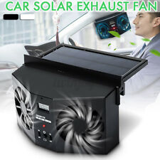 Solar Dual Fan Auto Car Window Windshield Auto Air Vent Outlet Ventilator Cooler
