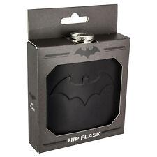 Official DC Comics Black Batman Bat Symbol Logo Hip Flask - Boxed Wedding Gift
