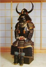 Wearable Iron & Silk Rüstung Japanese samurai armor suit Horn Helmet