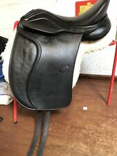 Heather Moffat Adjustable Synthetic Dressage Saddle Immaculate 17.5""