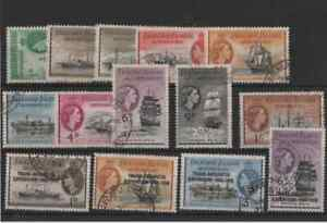 14 stamps from the falkland islands