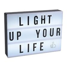 A4 Size Cinema LED Light Up Box Light Up Message Box 100 Characters Included