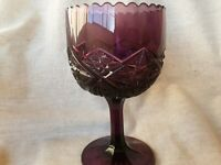 Vintage Purrple Amethyst Pressed  Glass Candy  Dish/ Goblet.