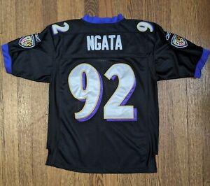 NFL Baltimore Ravens Reebok On Field #92 Halota Ngata Youth Medium Sewn Jersey