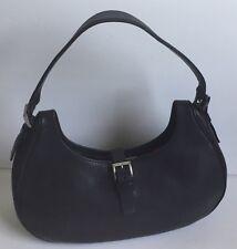 Prada Black Leather Baguette Shoulder Bag Handbag
