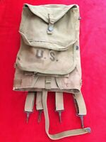 US WW2 WWII Army M1928 Haversack Pack Dated 1942 Mess Kit Pouch